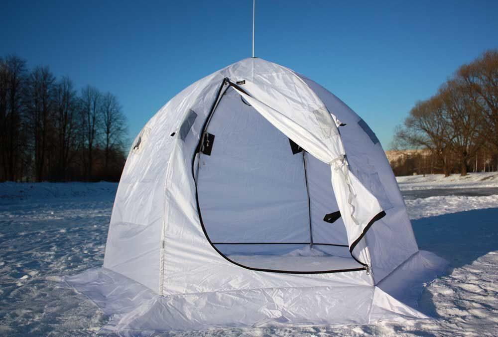 палатка белая для рыбалки